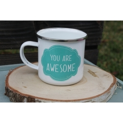 "Taza metálica ""You are awesome"""
